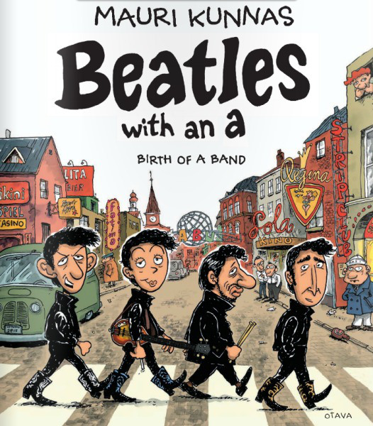 """Book Cover Black Beatles : Book review """"beatles with an a by mauri kunnas"""