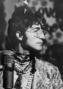 UNSEEN John Lennon during recording